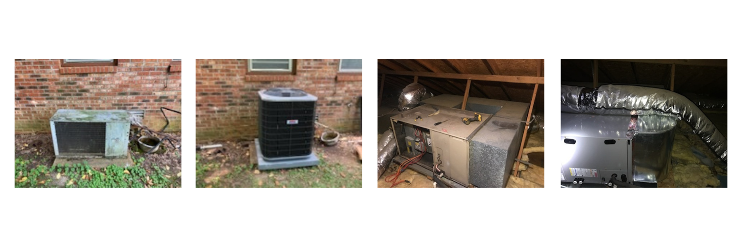 before and after HVAC work